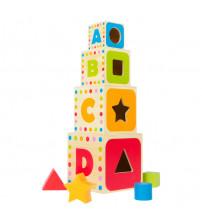 Koka piramida ar figurām 37 cm CB43625