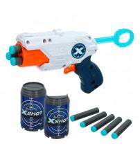 Pistole ar 8 porol. šautriņam, 3 bundžam līdz 24 m X-Shot MK 3 ZURU 8 g+ CB44765