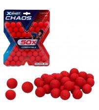 Porolona bumbiņas 50 gab. X-Shot Chaos ZURU 14 g+ CB46275