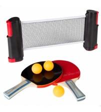 Galda tenisa komplekts (tīkls, raketes, 3 bumbiņas) CB54121