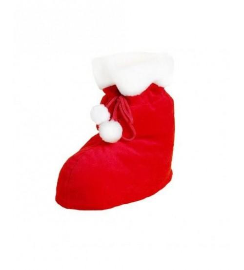 Mīksta Ziemassvētku zeķe ar saldumiem 450 gr + atstarotājs K19-18