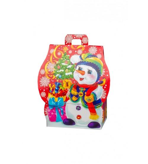 """Kārba """"Laimīgais sniegavīrs"""" ar saldumiem 400 gr K20-29"""