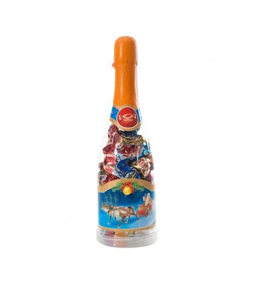 Saldais pārsteigums Šampānieša pudele ar saldumiem un Jūsu uzrakstu 400 gr K21-20