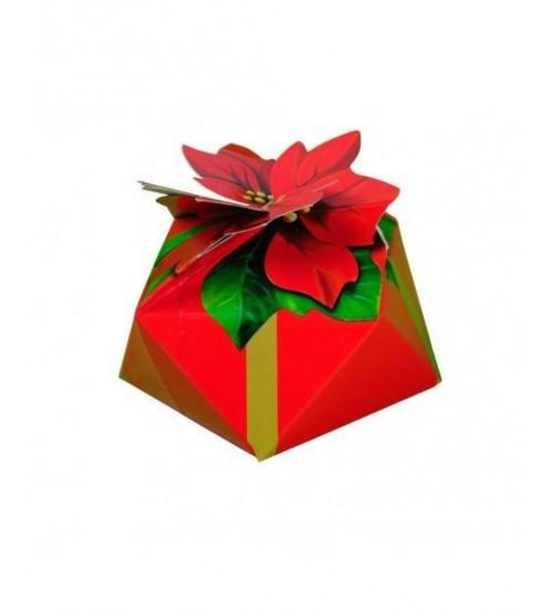 """Kārba """"Ziemassvētku zvaigzne"""" ar saldumiem 200 gr K21-35"""