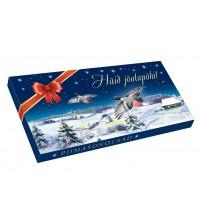 Piena šokolāde kaste Priecīgus Ziemassvētkus 100gr K22-43