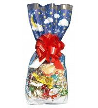 """Ziemassvētku paciņa """"Sniegpārslas"""" ar saldumiem 300 gr K21-37"""