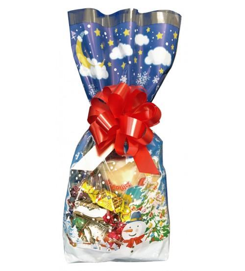 """Ziemassvētku paciņa """"Sniegpārslas"""" ar saldumiem 300 gr K20-40"""