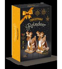 """Piparkūkas ar dekorēšanas komplektu  """"Ziemassvētku ziemeļbrieži"""" 750 gr  K19-6"""
