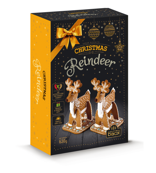 """Piparkūkas ar dekorēšanas komplektu  """"Ziemassvētku ziemeļbriedis"""" 750 gr  K20-20"""