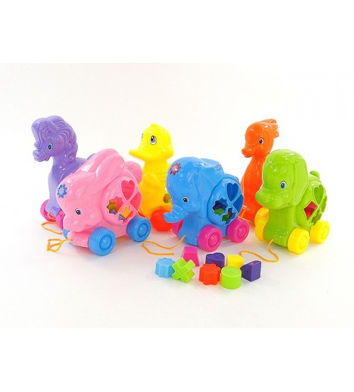 Velkama rotaļlieta formu šķirotājs (sorteris) 051959
