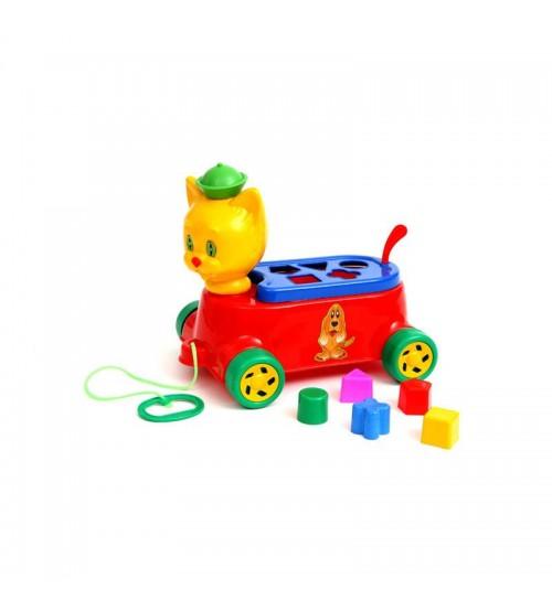 Velkama rotaļlieta formu šķirotājs (sorteris) Kaķis 340305