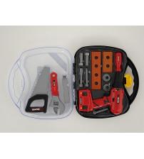 Darbarīku komplekts ar elektr. urbji bērniem koferītī 30x28x8 cm 510050