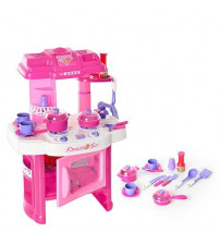 Bērnu virtuves plīts ar piederumiem ar skaņu un gaismu 20 detaļas 136403