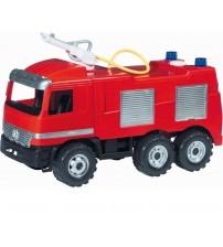 Liela ugunsdzēsēju mašīna LENA MAXI ar ūdens pumpi, 64cm, slodze 100kg L02028
