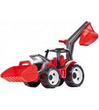 Traktors LENA MAXI ar kausu un iekrāvēju  107 cm L02081 (kastē)