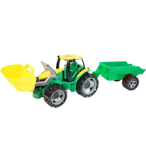Traktors Lena L02123 ar piekabi un kausu (kastē)