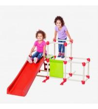 Bērnu izklaides laukuma kāpnes ar slidkalniņu saliekāmas Olimpus 1,5x1,2x0.8 m 491105
