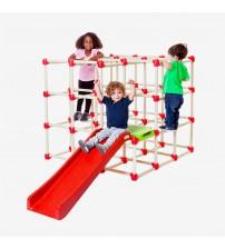 Bērnu izklaides laukuma kāpnes ar slidkalniņus saliekāms Cube 2x1,2x1,2m  491402