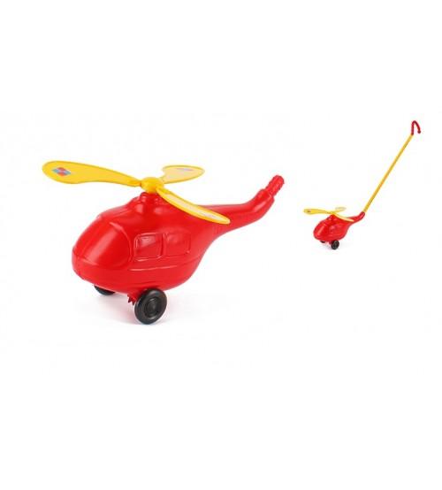 Stumjamā plastmasas rotaļlieta ar kociņu - Helikopters
