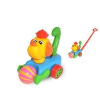 Stumjamā plastmasas rotaļlieta ar kociņu - suns ar bumbu 340657