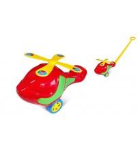 Stumjamā plastmasas rotaļlieta ar kociņu - Liels helikopters